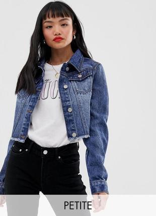 Новая укороченная джинсовка кроп куртка джинсова