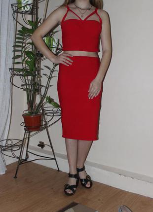 Счтильний комплект , юбка , топ