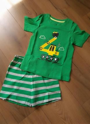 Летняя пижама/костюм george для мальчика 3-4, 4-5, 5-6 лет