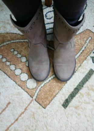 Ботинки кожа- нубук