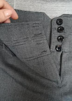 Офисные брюки с высокой   посадкой  14 размера  длина -  101 см