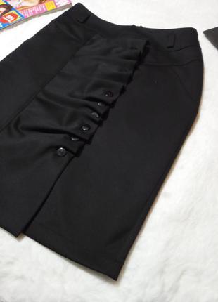 Фактурная классическая юбка карандаш для офиса.