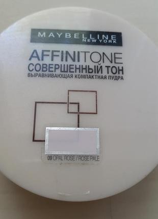 Выравнивающая компактная пудра affinitone maybelline