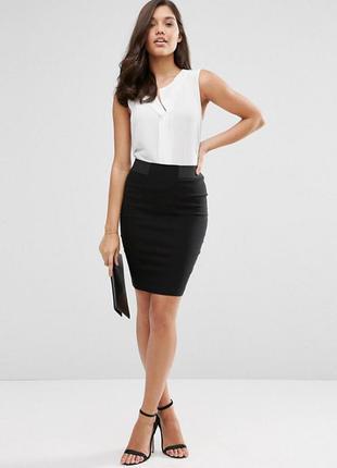 Классная черная мини юбка
