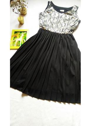 """Нарядное чёрно-золотое платье большого размера """"essence"""""""