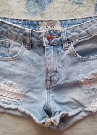 Шорты джинсовые с кружевом new look, xxs-xs