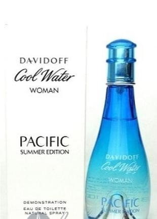 Davidoff cool water pacific summer edition туалетная вода 100 ml тестер