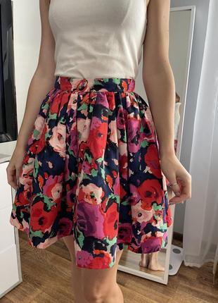 Цветочная объемная юбка
