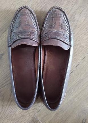 Женские кожаные туфли размер 363 фото
