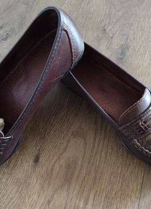 Женские кожаные туфли размер 362 фото