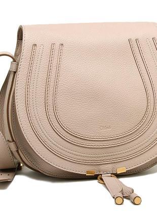 Новая шикарная кожаная сумка cross body дорогого бренда chloe
