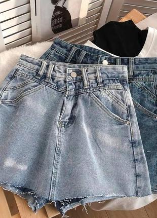 Женская юбка, короткая юбка, джинсовая юбка1 фото
