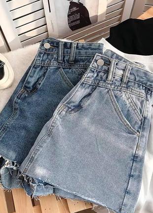 Женская юбка, короткая юбка, джинсовая юбка2 фото