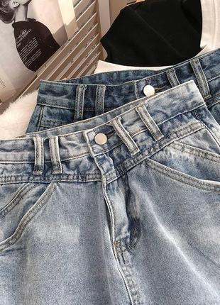 Женская юбка, короткая юбка, джинсовая юбка7 фото