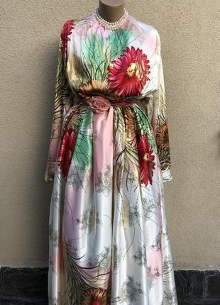 Эксклюзив,вечернее платье,ткань от кутюр,большой размер