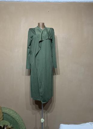 Накидка платье с длинным рукавом  длинное размер 50 52