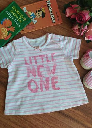 Классная трикотажная футболка nextна 3-6 месяцев.