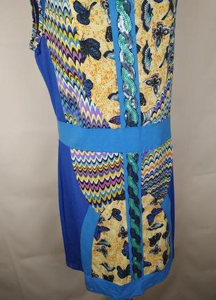 Платье стильное в орнамент трикотажное с паетками uk 14/42/l2 фото