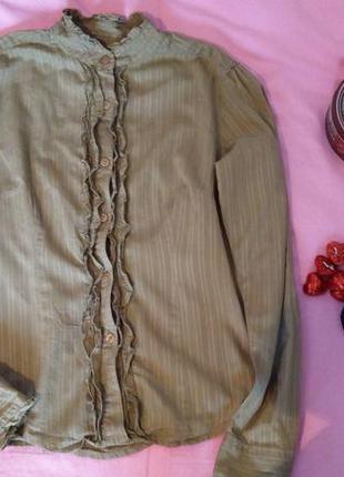 Стильная рубашка хаки блуза