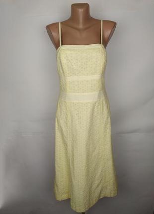 Платье новое стильное батистовка желтое autograph uk 10/38/s