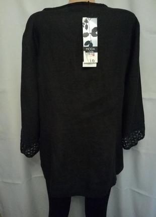 Стильная льняная блуза, туника с отделкой №9bp4 фото