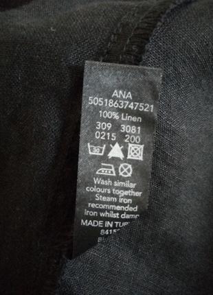 Стильная льняная блуза, туника с отделкой №9bp7 фото