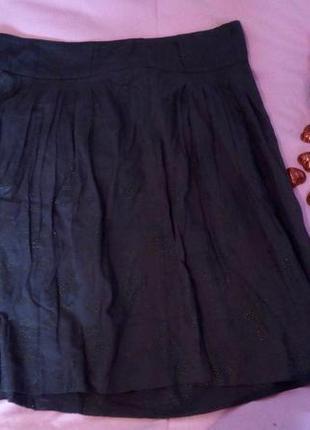 Необычная темно синяя юбка солнце