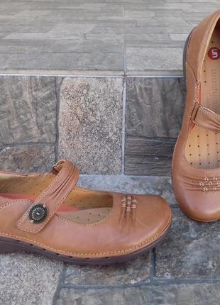 Новые женские туфли clarks unstructured 37 р. балетки кожаные оригинал