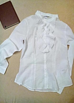 Блуза белая в тонкую полоску
