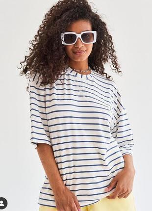 Трендова футболка в полоску тільняшка
