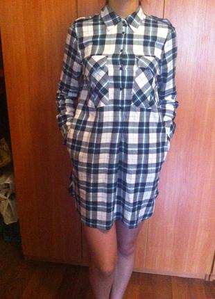 Молодежное платье-рубашка