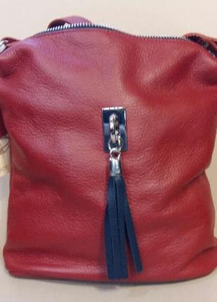 Женская  кожаная сумка vera pelle (италия)