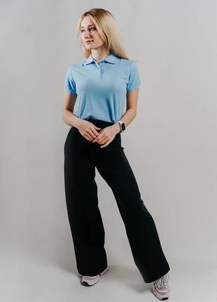 Polo club оригинал футболка поло трендового голубого цвета/ 100% хлопок