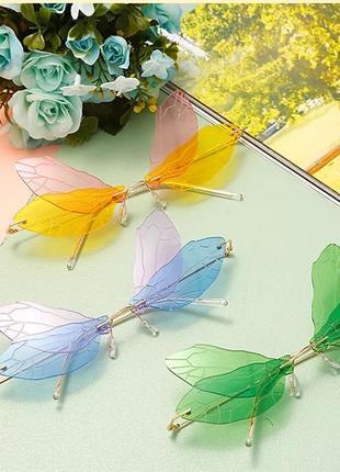 Винтажные очки в виде крыльев