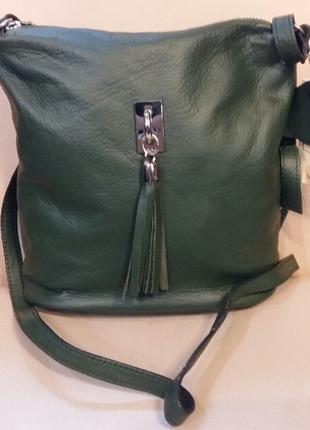 Женская кожаная сумка vera pelle (италия )