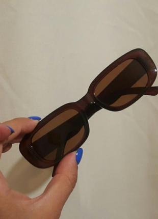 Модные очки солнцезащитные прямоугольные
