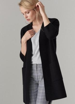 Плотный кардиган, пальто с карманами и рукавом 3/4 mohito xs