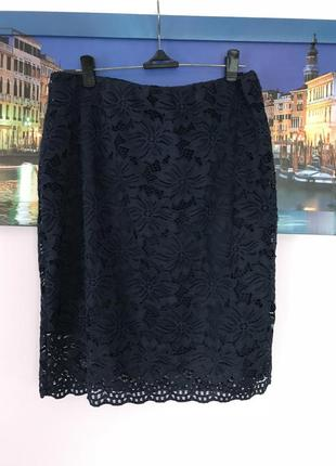 Шикарная кружевная юбка , юбка миди , юбка карандаш