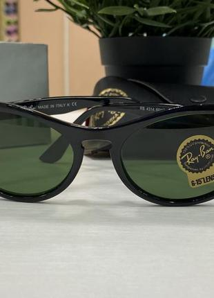 Женские солнцезащитные очки ray ban кошки cat eye в линзами из стекла жіночі окуляри