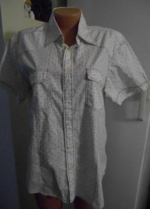Рубашка  р.l   jack & jones  пог-56 длина 73см