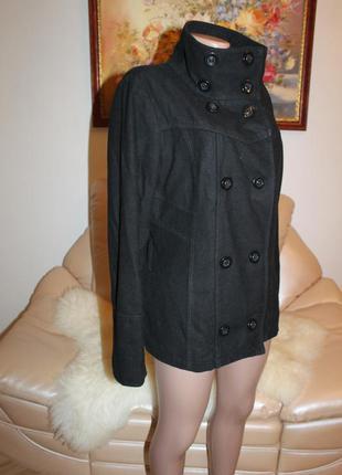 Vero moda теплое и удобное пальто из шерсти, классический черный цвет  vero moda