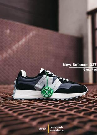 Оригинальные new balance 327 grey/pink (серый/розовый)