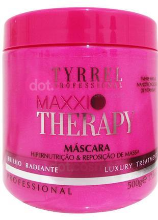 Маска тритмент maxxi therapy tyrrel для максимального восстановления волос, 15 г