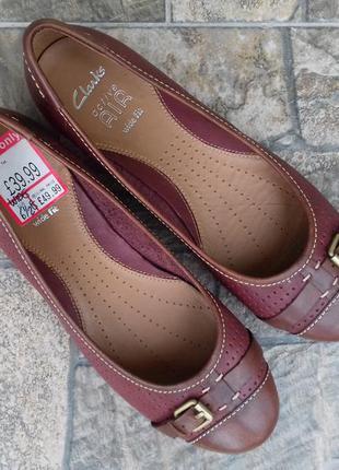 Новые женские туфли clarks active air 39,5 - 40 р. кожаные балетки