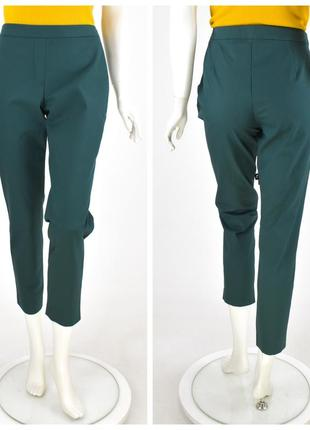 Theory классические брюки классного изумрудного цвета высокая посадка талия размер 8 с / м / л