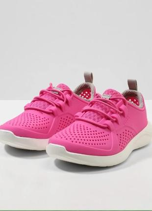 Крокс кроссовки crocs literide pacer kids child all-purpose shoes electric pink