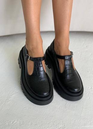 """Женские туфли """"мэри джейн"""" , черные, в наличии и отшить, натуральная кожа р.36-41"""