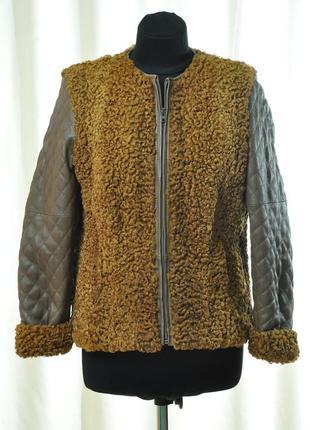 Шуба куртка каракуль шкіра кожа хутро мех ексклюзив натуральная