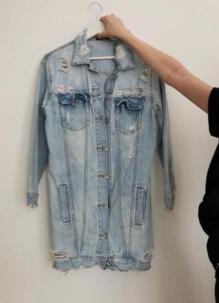 Джинсова куртка подовжена/джинсовая куртка