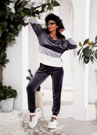 Модный женский спортивный костюм из королевского велюра msr834